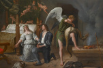 Ян Стен. Тобиас и Сара у брачного ложа. Архангел Рафаил, изгоняющий демона Асмодеуса