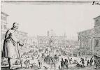 Жак Калло. Рынок на площади Санта Аннунциата во Флоренции