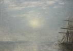 Вильгельм Хаммерсхёй. Солнце над морем