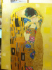 Copy of the painting of Gustav Klimt,the KISS,,