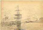 Эжен Буден. Корабли в порту