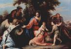 Себастьяно Риччи. Отдых на пути в Египет, с Иоанном Крестителем, св. Елизаветой и ангелом