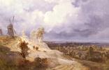 Жорж Мишель. Пейзаж с ветряными мельницами