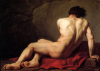 Jacques-Louis David. Sitting Nude. Sketch for the image of Patroclus