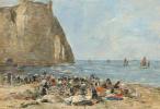 Эжен Буден. Прачки на пляже Этрета