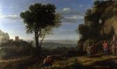 Клод. Пейзаж с Давидом в пещере Одоллам