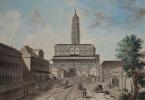 Сухарева башня. Вид от улицы Сретенки