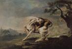 Джордж Стаббс. Лев нападает на лошадь