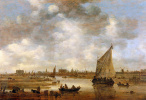 Ян ван Гойен. Вид на Лейден