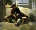 A young man with a book