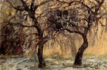 Михаил Федорович Ларионов. Деревья на фоне дома