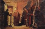 Николай Николаевич Ге. Христос перед Анной. Эскиз неосуществленной картины