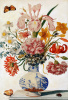 Floral still life in Chinese vase