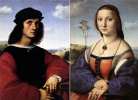 Doubles portrait of the spouses Doni (Portrait of Agnolo Doni. Portrait Of Maddalena Doni)