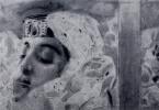 Михаил Александрович Врубель. Тамара в гробу. Иллюстрация к поэме М.Ю. Лермонтова «Демон». Фрагмент