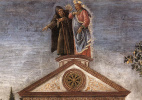 Сандро Боттичелли. Три искушения Христа (фрагмент)