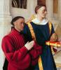 Этьен Шевалье и Св. Стефан. Левая створка Меленского диптиха
