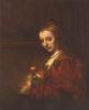 Портрет женщины с алой гвоздикой
