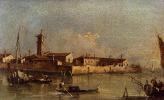 Франческо Гварди. Вид на остров Сан-Микеле рядом с Мурано в Венеции