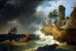 Клод Жозеф Верне. Буря у скалистого берега