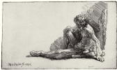 Рембрандт Харменс ван Рейн. Сидящий обнажённый