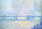 Claude Monet. Bridge to Charing Cross and cloudy weather