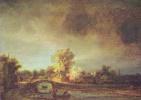 Рембрандт Ван Рейн. Пейзаж с каменным мостом