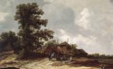 Ян ван Гойен. Двор фермы со стогом сена
