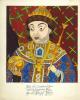 Шаржированный портрет царя Федора Алексеевича.  Ватман, перо