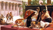 Cleopatra testing poison on condemned prisoners