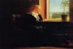 Уинслоу Хомер. Глядя на море. Девушка в черном у окна