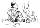 Иллюстрация к рассказу Л.Кэрролла «Алиса в стране чудес»
