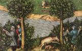 Лукас Кранах Старший. Курфюрст Фридрих Мудрый охотится на оленей. Деталь: курфюрст Фридрих Мудрый и император Максимилиан