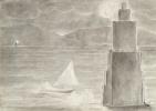 """Уильям Блейк. Данте и Вергилий собираются переплыть Стигийское болото. Иллюстрации к """"Божественной комедии"""""""