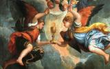Паоло Веронезе. Жена Зеведея ходатайствует Христа над сыновьями