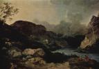 Филипп Якоб  Младший Лутербург. Вечерний морской пейзаж в Камберленде
