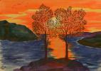 Tatiana Alexandrovna Terebilina. Trees in the sun