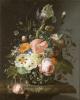 Натюрморт с цветами на мраморном столе