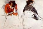 Эдгар Дега. Две сидящие женщины