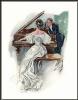 Дама в белом у рояля