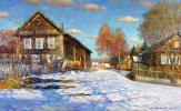 Александр Викторович Шевелёв. Spring is in the heater.Oil on canvas 55,5 # 90,5 cm 2008