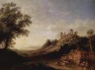 Сицилийский пейзаж с руинами храма
