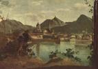 Камиль Коро. Город и озеро Комо