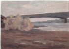 Arkady Pavlovich Laptev. The old bridge through Vyatka