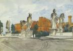 Анна Петровна Остроумова-Лебедева. Диоскуры на Капитолийской площади в Риме