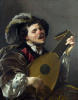 A man playing the lute