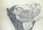 Люсьен Фрейд. Младенец с обезьянкой