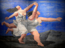 "Two women running on the beach (Curtain for the ballet ""Blue Express"")"