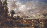 The opening of Waterloo bridge on 18 June 1817
