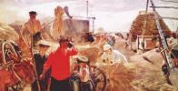 Молотьба в колхозе